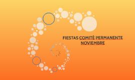 FIESTAS COMITÉ PERMANENTE NOVIEMBRE