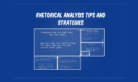 Analysis Tips and Strategies