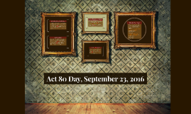 Act 80 Day, September 23, 2016
