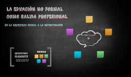 SALIDAD PROFESIONALES EN LA EDUCACIÓN  NO FORMAL