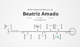 Timeline Prezumé de Beatriz Amado