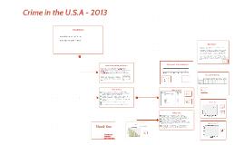 Crime in the U.S.A - 2013