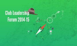 Athletic Club Leadership Forum 2014-15