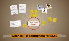 ELs in RTI