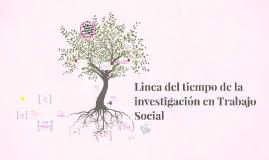 Linea del tiempo de la investigación en Trabajo Social