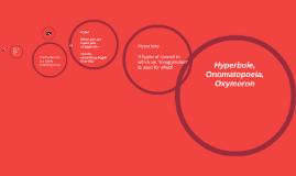 Hyperbole, Onomatopoeia,