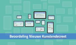 Copy of Beoordeling Nieuwe Kunstendecreet