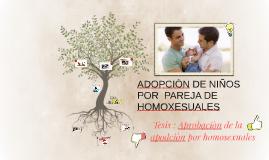 ADOPCION DE NIÑOS POR  PAREJA DE HOMOXESUALES