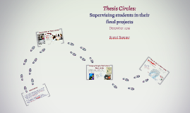 Supervising students in thesis circles