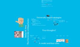 University impact strategies