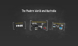 The Modern World and Australia
