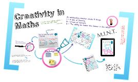 TeachMeet - Creativity in Maths