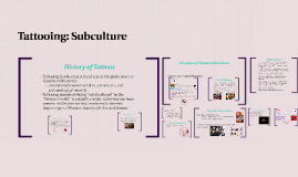 Tattooing: Subculture