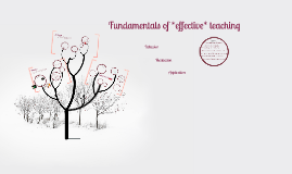 Fundamentals of *effective* teaching