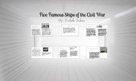 Five Famous Civil War Ships