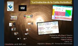 """""""La evolución de la tabla periodica"""""""