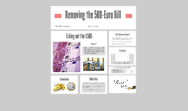 Removing the 500-Euro Bill