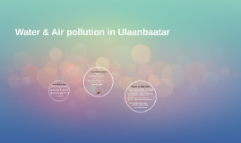 Water & Air pollution