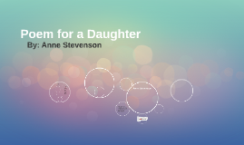 Poem for a Daughter