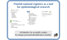 Finnish national registers as a tool for epidemiological research
