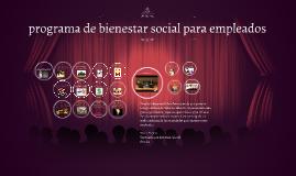 programa de bienestar social para empleados