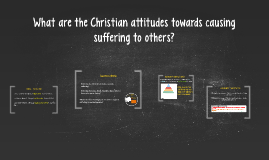 What are the Christian attitudes to suffering?