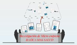 investigacion de microempresa
