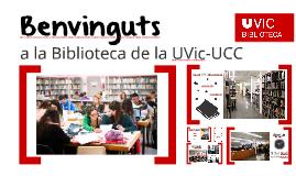 Benvinguts a la Biblioteca. Curs 2016-2017