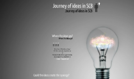 Journey of ideas in SCB