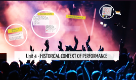 Unit 4 - HISTORICAL CONTEXT OF PERFORMANCE
