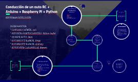 Conducción de un auto RC + Arduino + Raspberry Pi + Python