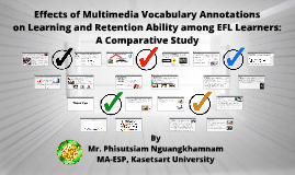 Effects of Multimedia Vocabulary Annotations on EFL Learners