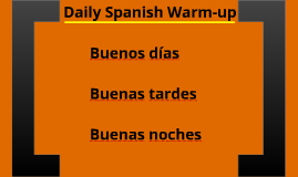 Daily Spanish Warm-up