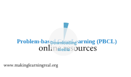 Problem-based Case Learning (PBCL) online resources