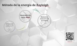 Método de la energía de Rayleigh