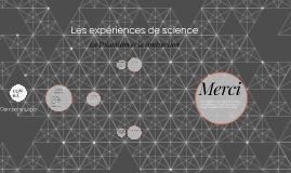 experience de science