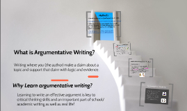 Copy of Argumentative Writing Intro