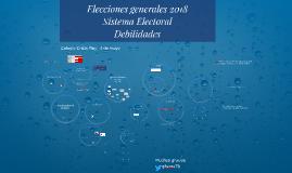debilidades y elecciones 2019