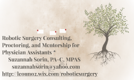 Robotic Surgery Consulting and Proctoring