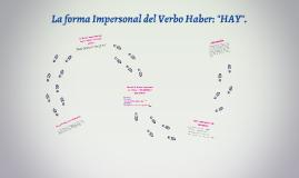 """Forma Impersonal del Verbo """"Haber"""": HAY (Material para Sra. Koko.)"""