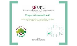 Proyecto Informático III - Primer Entregable
