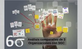 Análisis comparativo de 3 Organzaciones con SGC