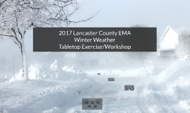 2017 Winter Weather Tabletop Exercise