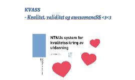KVASS - Kvalitet, validitet og awesomeneSS <3<3