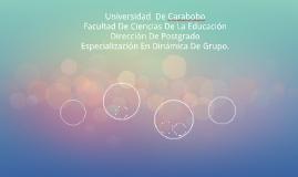 Universidad  De CaraboboFacultad De Ciencias De La Educació