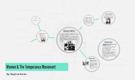 Women & The Temperance Movement