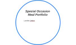 Special Occasion Meal Portfolio