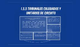 TRIBUNALES COLEGIADOS Y UNITARIOS DE CIRCUITO