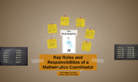 Roles and responsibilities of a maths coordinator.