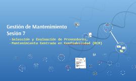 Sesión 7 GM Proveedores - Mejora - RCM
